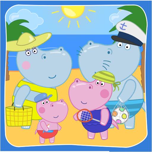 孩子们海滩冒险