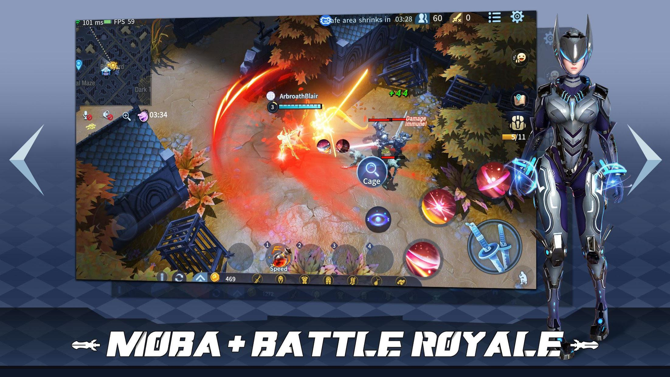 Survival Heroes - MOBA Battle Royale 游戏截图2