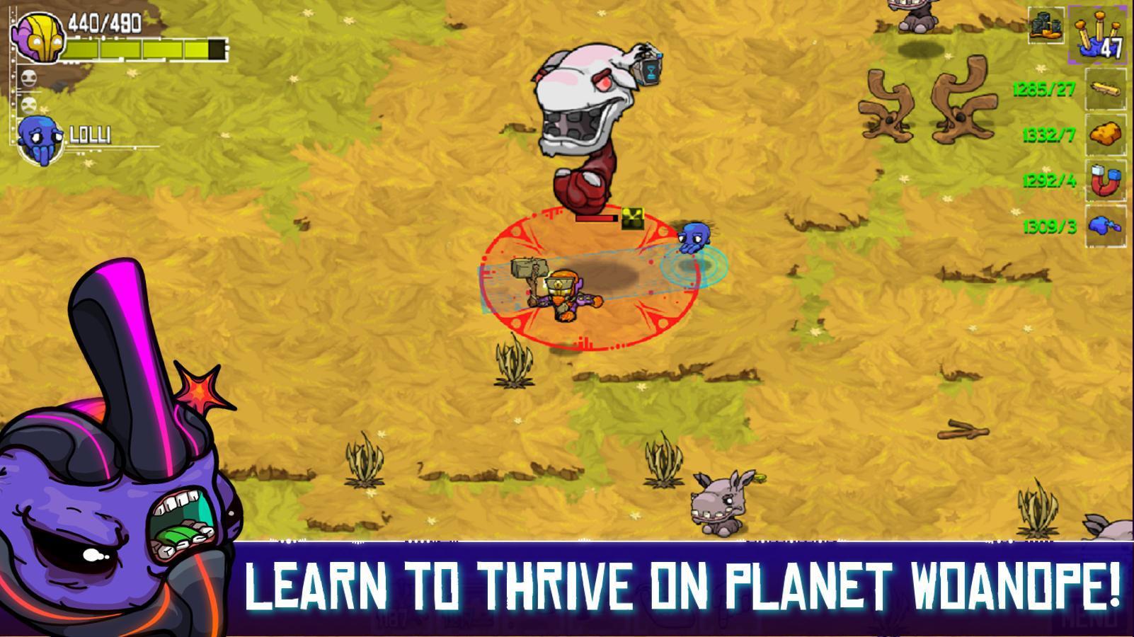 《崩溃大陆Crashlands》第一个boss打法分享