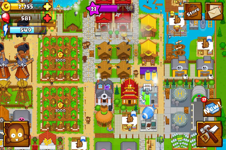 Bloons Monkey City 游戏截图1