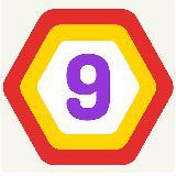 UP 9 - 六角拼图!合并数字得到 9