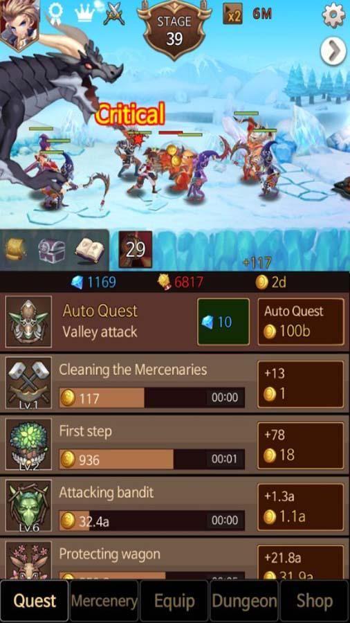 Dark Chaser : Idle RPG 游戏截图3