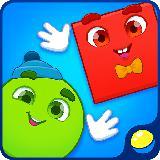 形状游戏的幼儿和孩子