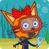 Kid-e-Cats 海上冒险岛! 海上巡航和潜水游戏! 猫猫游戏同寻宝在基蒂冒险岛! 冒险游戏!