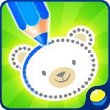 绘图为婴儿为孩子们着色游戏