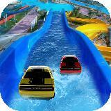 Waterpark Ride & Water Surfing Car Stunts & Slides
