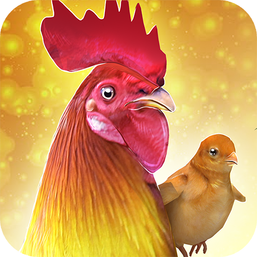 鸡场 - 公鸡 赛跑 - Rooster Chicks