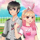 Anime High School Couple - First Date Makeover