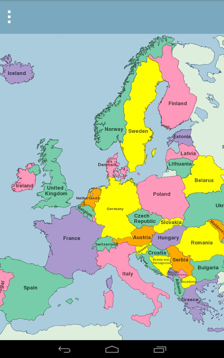 Europe Map Puzzle 游戏截图3
