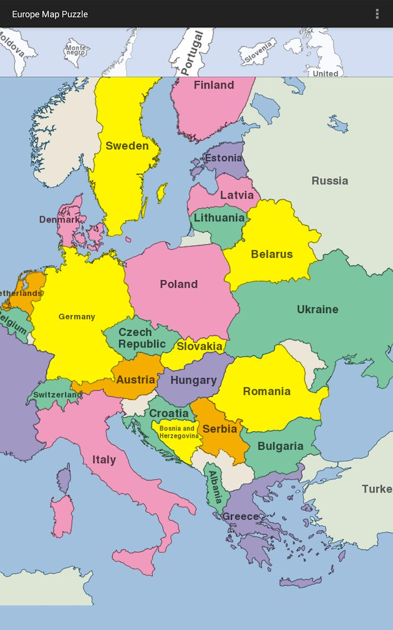 Europe Map Puzzle 游戏截图4