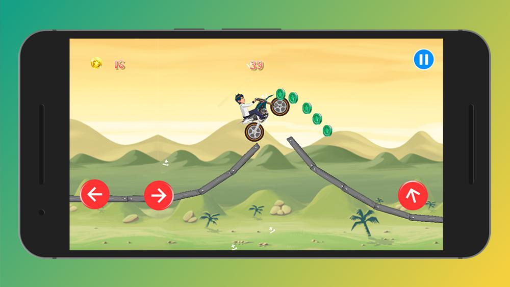 Crazy Jungle Ben MotoBike Race - Motor Hill Racing 游戏截图1