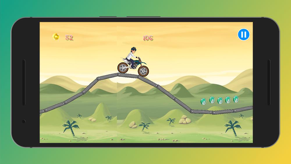 Crazy Jungle Ben MotoBike Race - Motor Hill Racing 游戏截图5