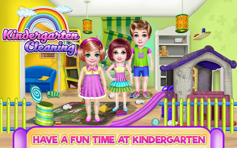Kindergarten Cleaning - House Cleaning 游戏截图1
