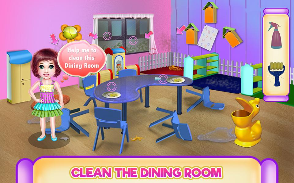 Kindergarten Cleaning - House Cleaning 游戏截图3