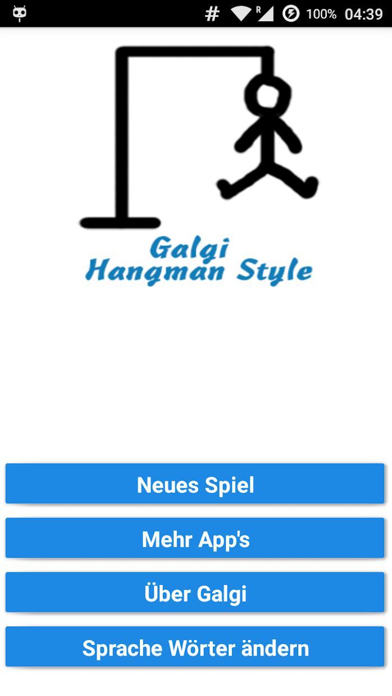 Galgi Wortspiel Deutsch 游戏截图1