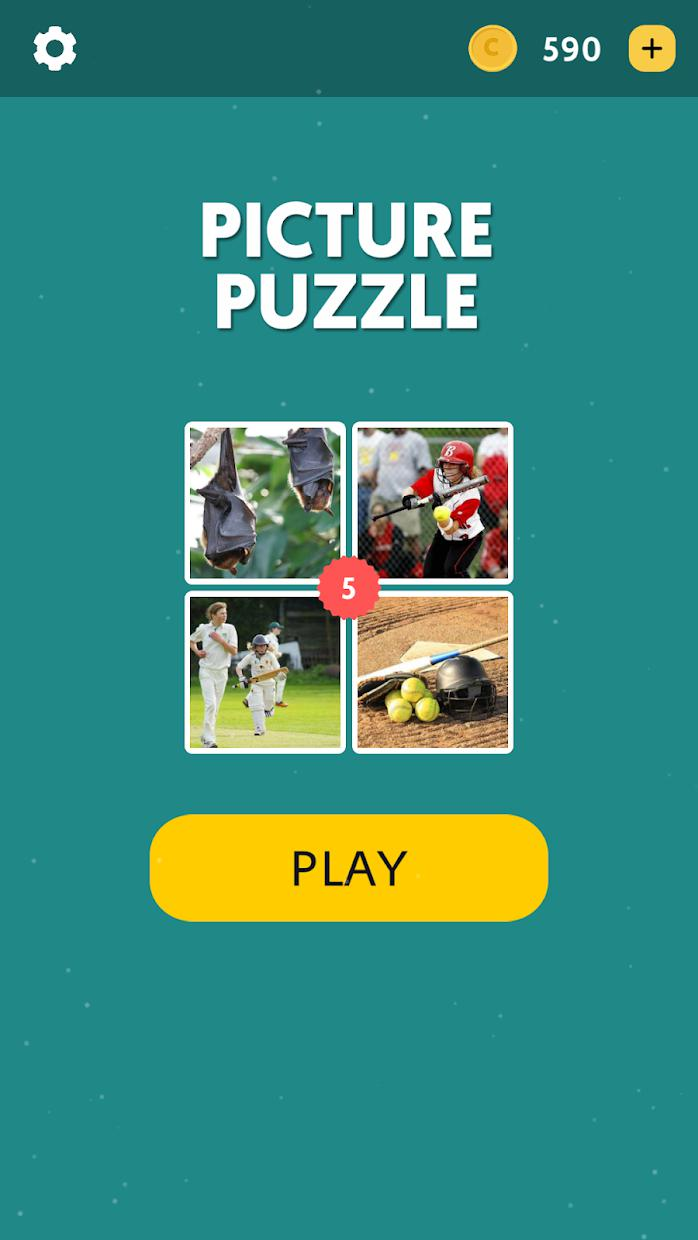 Picture Puzzle - 1 Word 游戏截图1