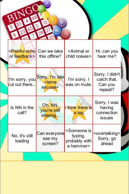 Conference Call App: Bingo! 游戏截图1