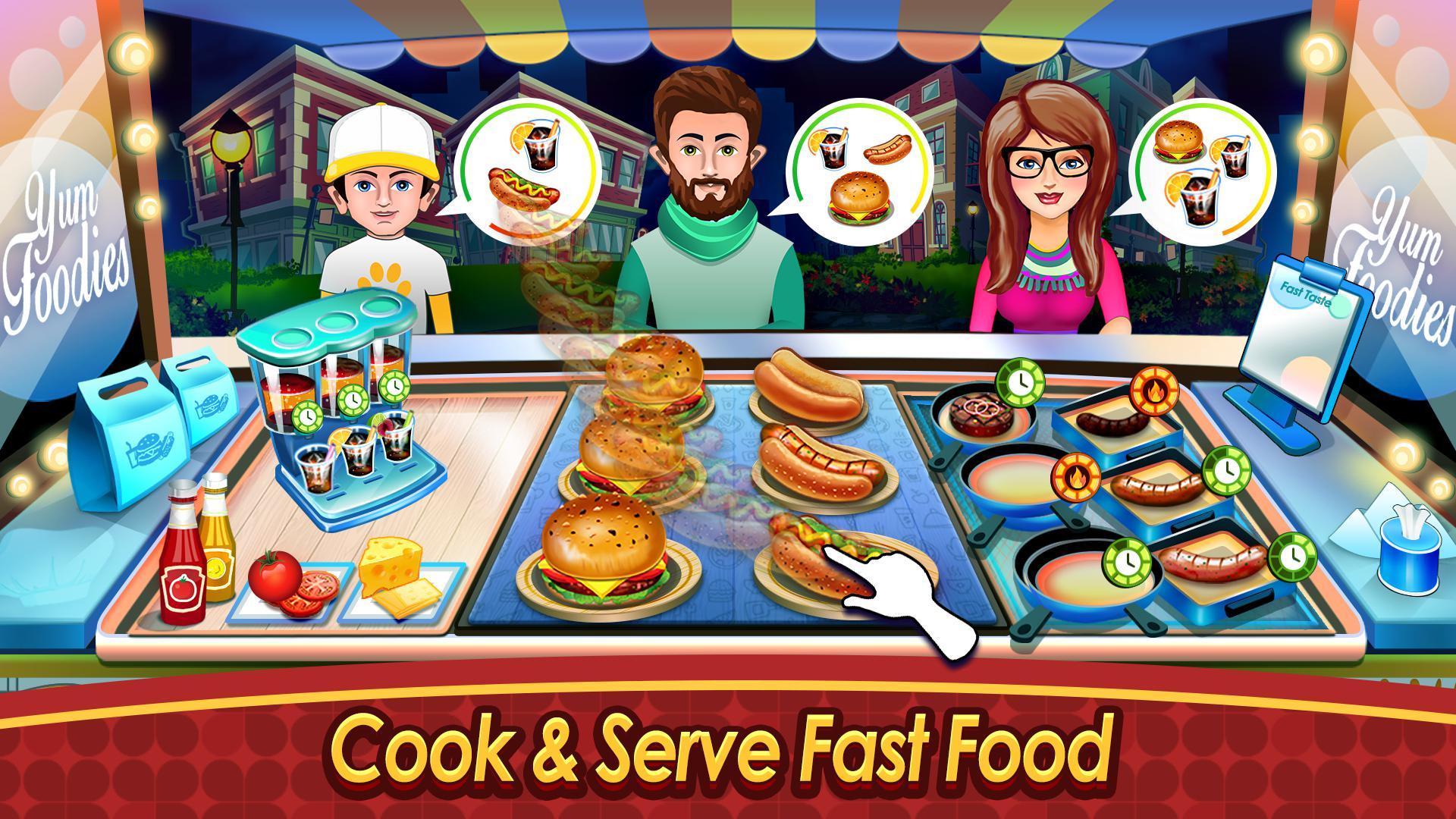烹饪卡车:食物热狂热 游戏截图2