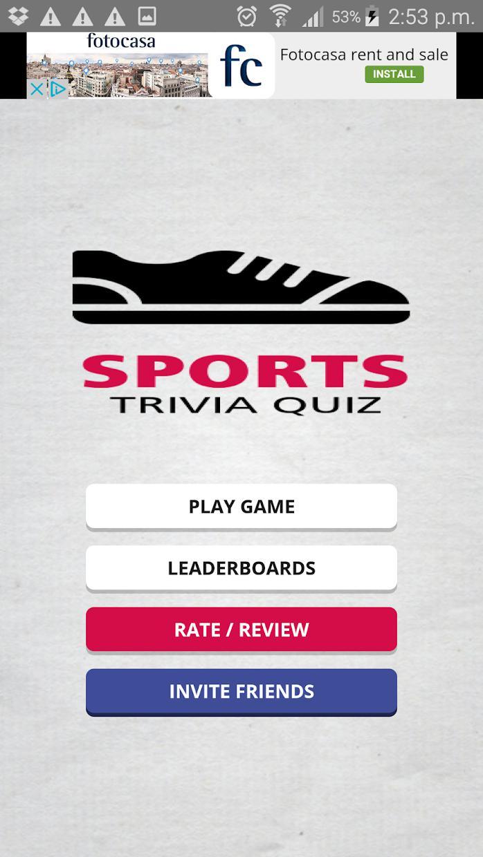 Sports Trivia Quiz 游戏截图1