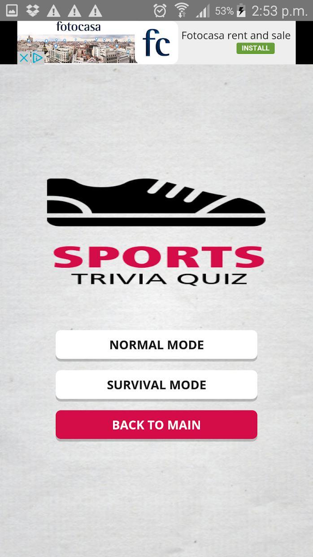 Sports Trivia Quiz 游戏截图2