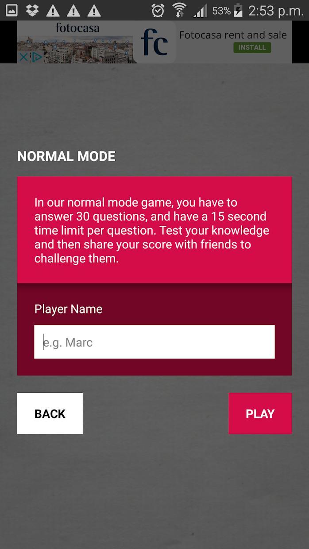 Sports Trivia Quiz 游戏截图3