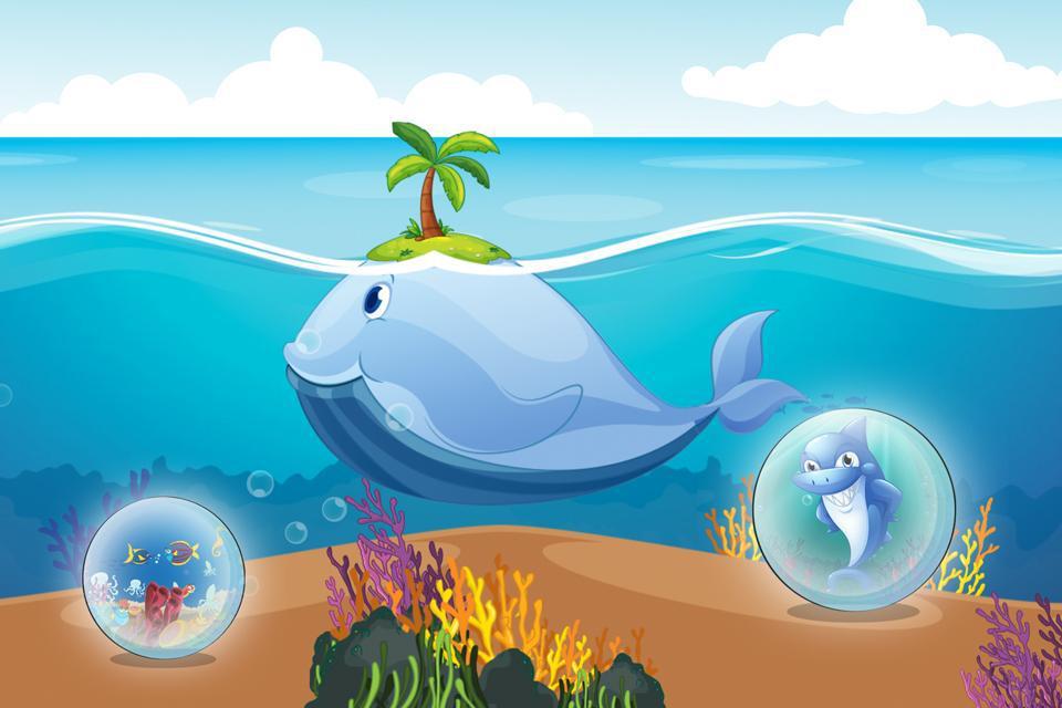 水下拼图 - 海和海洋动物为孩子和幼儿 游戏截图4