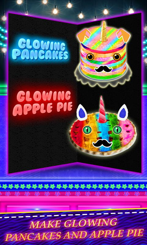 发光独角兽甜点! 彩虹煎饼&派 游戏截图2