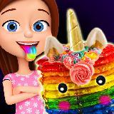 发光独角兽甜点! 彩虹煎饼&派