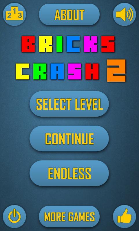 Bricks Crash 2 Free 游戏截图1