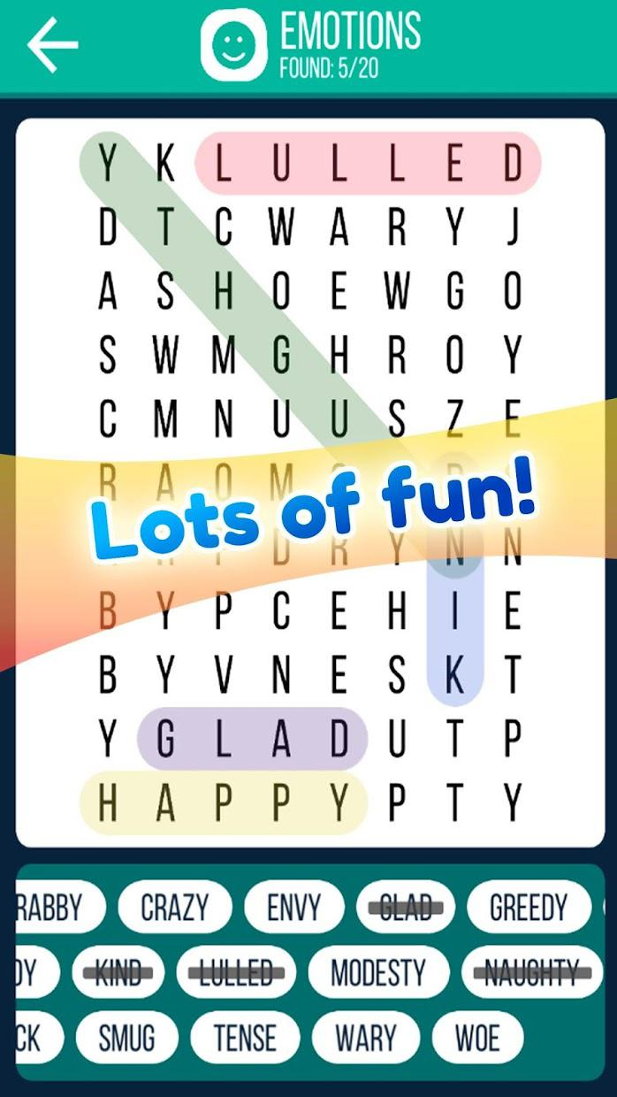 Word Search 2019: Word searching game for free 游戏截图2
