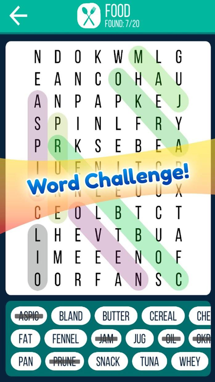 Word Search 2019: Word searching game for free 游戏截图1