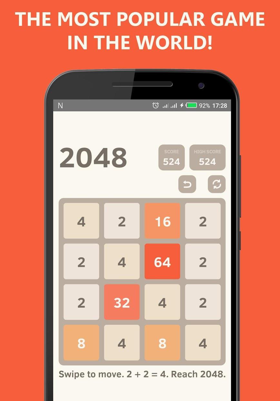 2048 Undo - Math Puzzle Game 游戏截图1