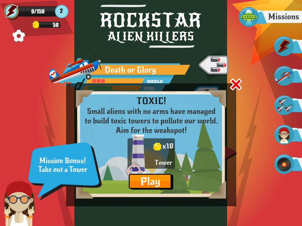 Rockstar Alien Killers: Arcade Shooter 游戏截图1