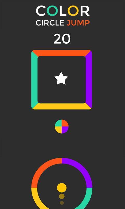 Color Circle jump Free 游戏截图1
