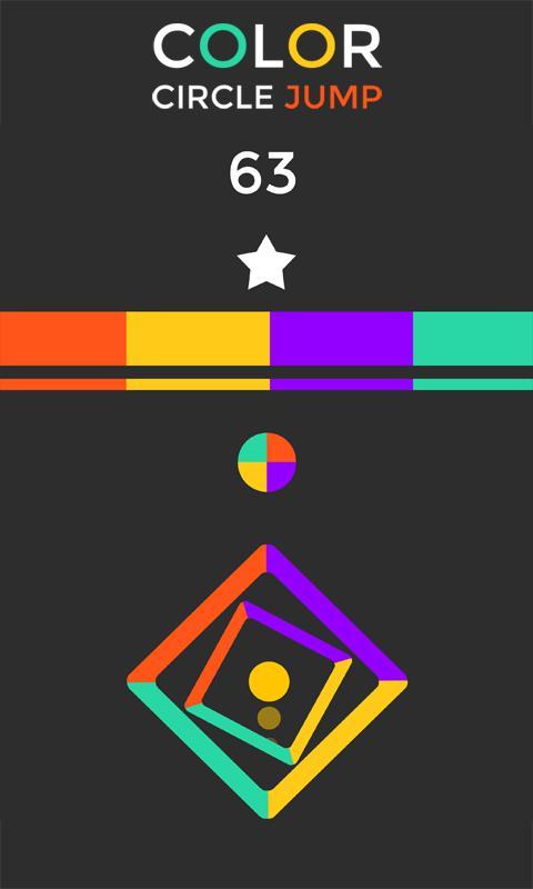 Color Circle jump Free 游戏截图4