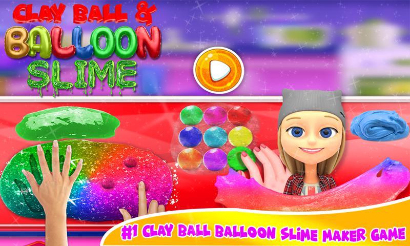 DIY气球粘液冰沙和粘土球粘液游戏 游戏截图1