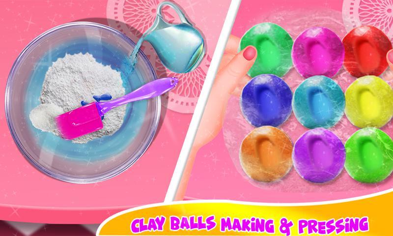 DIY气球粘液冰沙和粘土球粘液游戏 游戏截图2