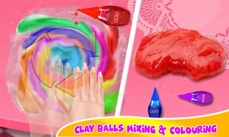 DIY气球粘液冰沙和粘土球粘液游戏 游戏截图3