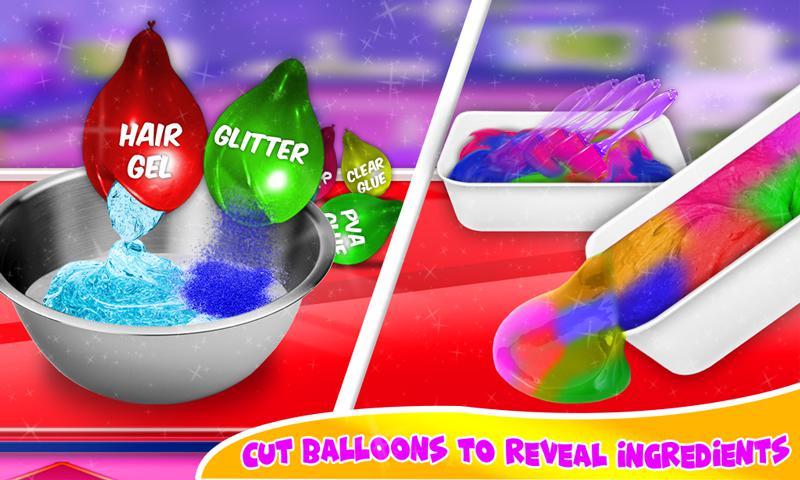 DIY气球粘液冰沙和粘土球粘液游戏 游戏截图4