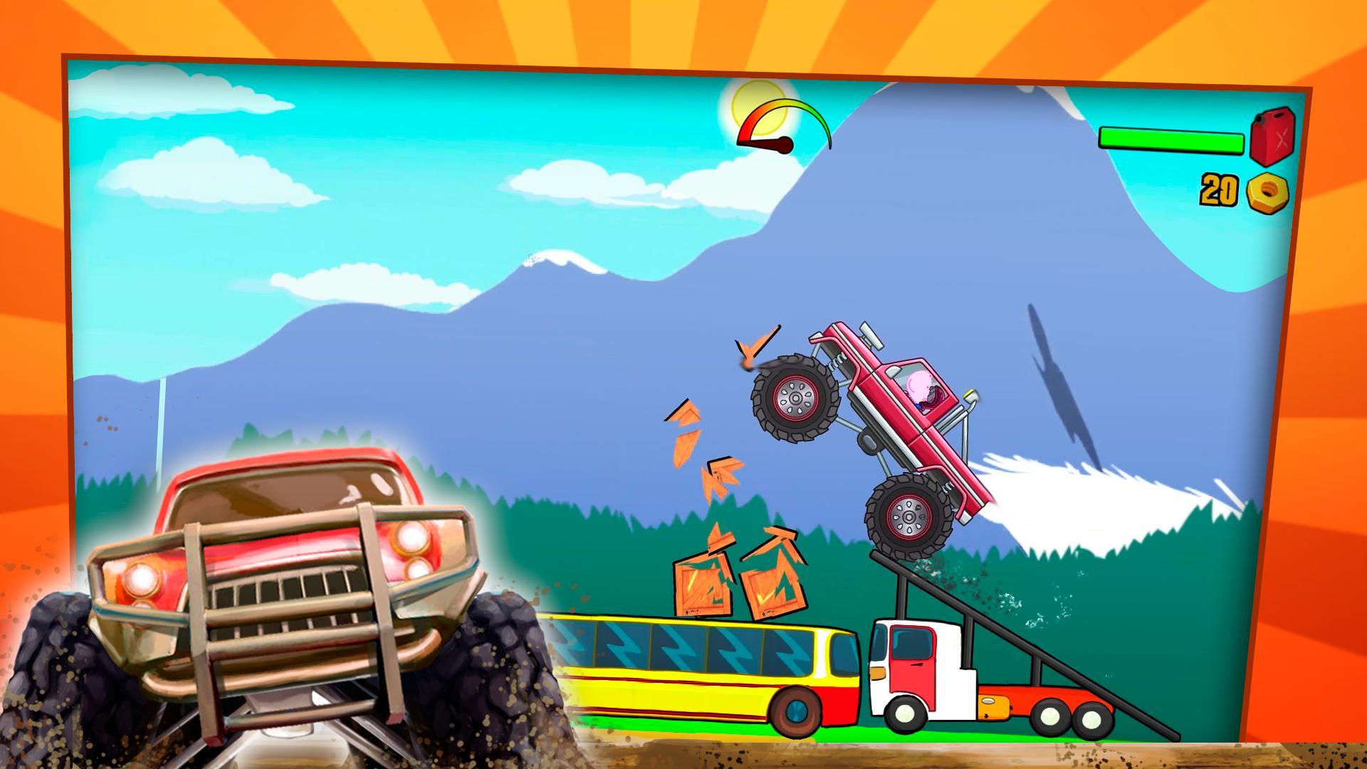 儿童怪物卡车 游戏截图1
