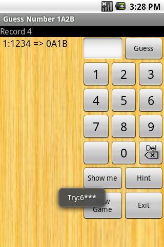 猜数字1A2B 游戏截图3