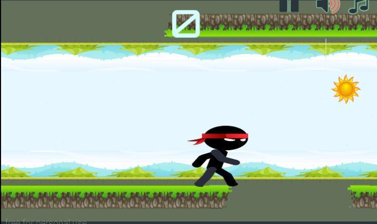 Run Ninja Run Action Game 游戏截图2