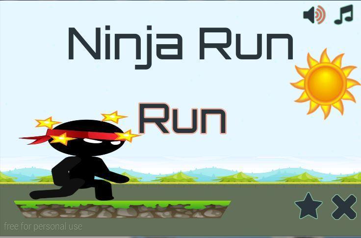 Run Ninja Run Action Game 游戏截图1