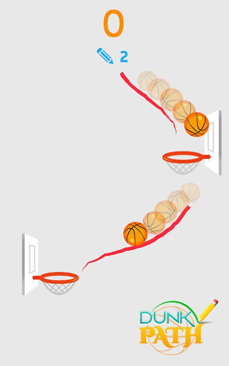 Hit Line Dunk: Hot Ball Master 游戏截图1