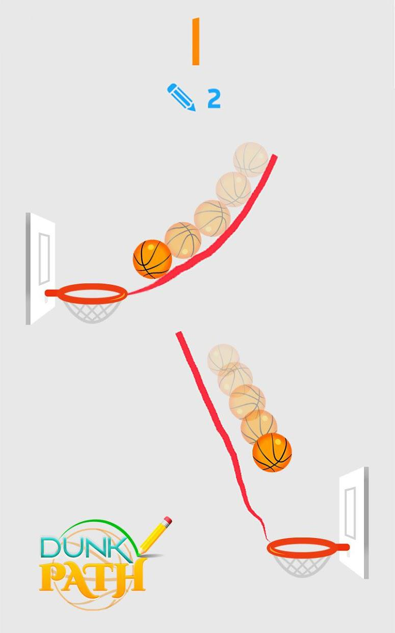 Hit Line Dunk: Hot Ball Master 游戏截图2