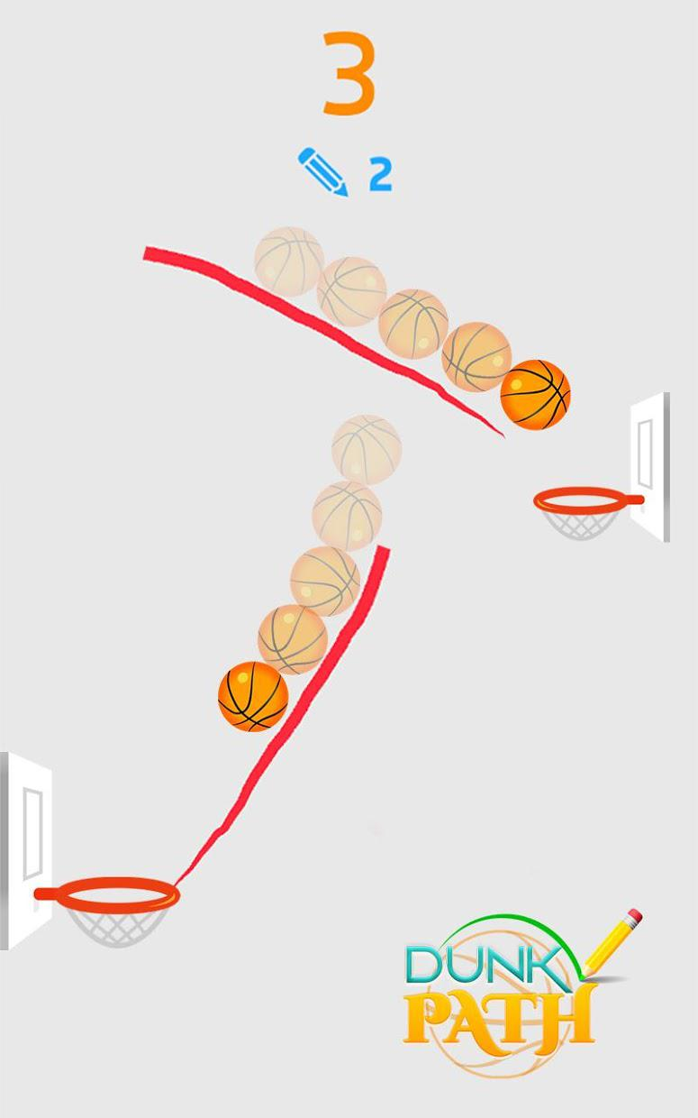 Hit Line Dunk: Hot Ball Master 游戏截图4