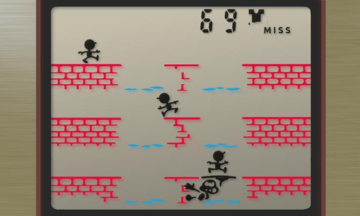 GAME&WATCH manhole 3 lines 游戏截图2