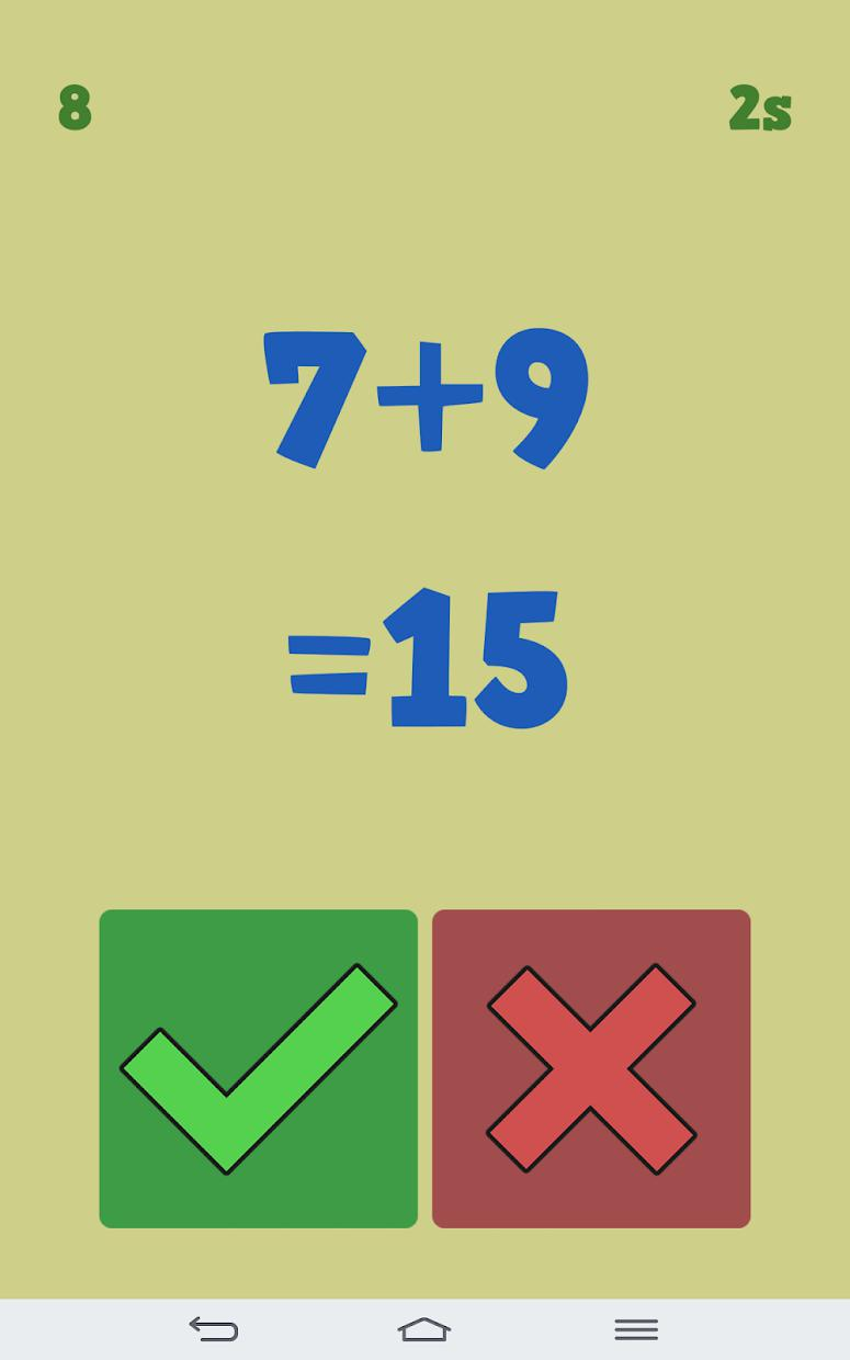 True or False Math 游戏截图3