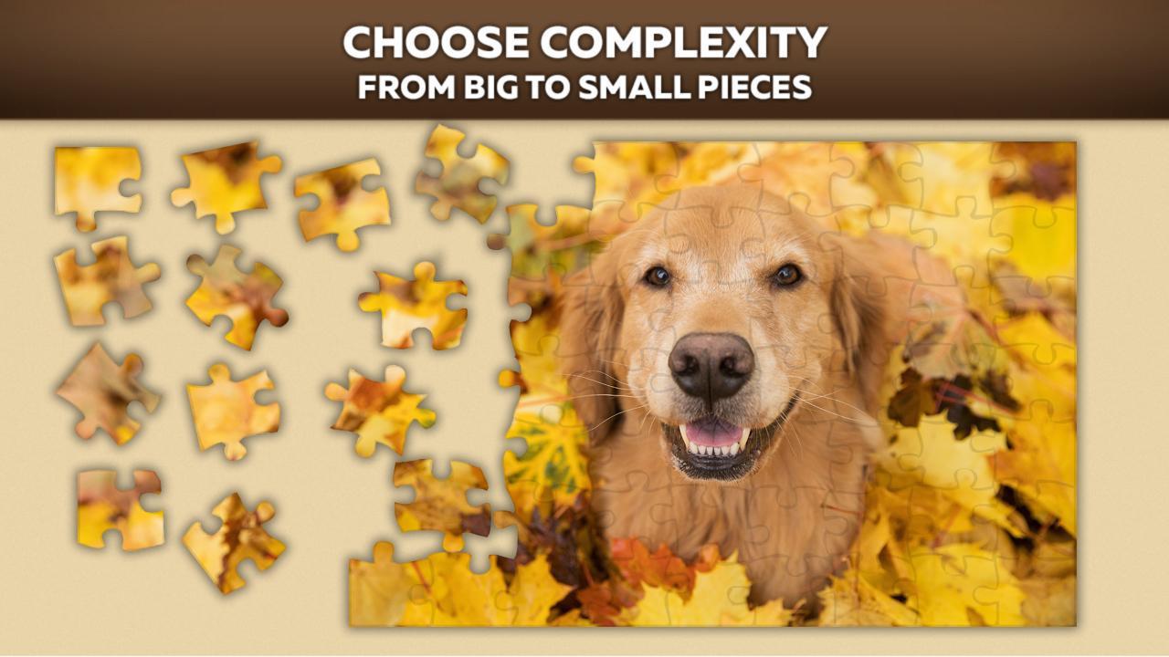 Cute Dog Puzzles 游戏截图1