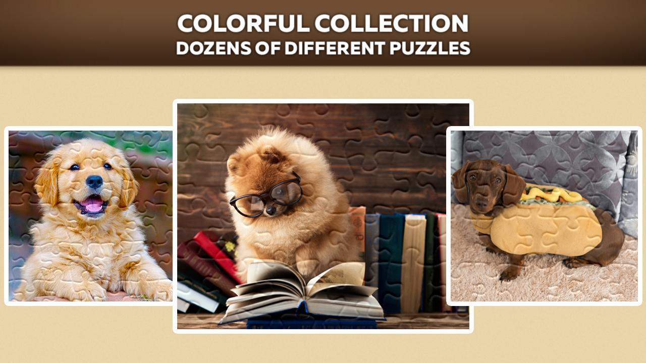 Cute Dog Puzzles 游戏截图2
